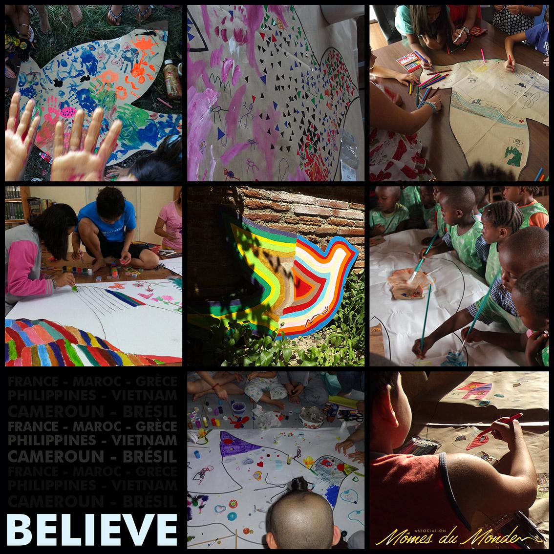 enfants peinture photo