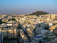 grece ville batiments