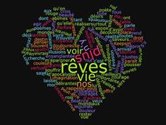 coeur mots couleurs