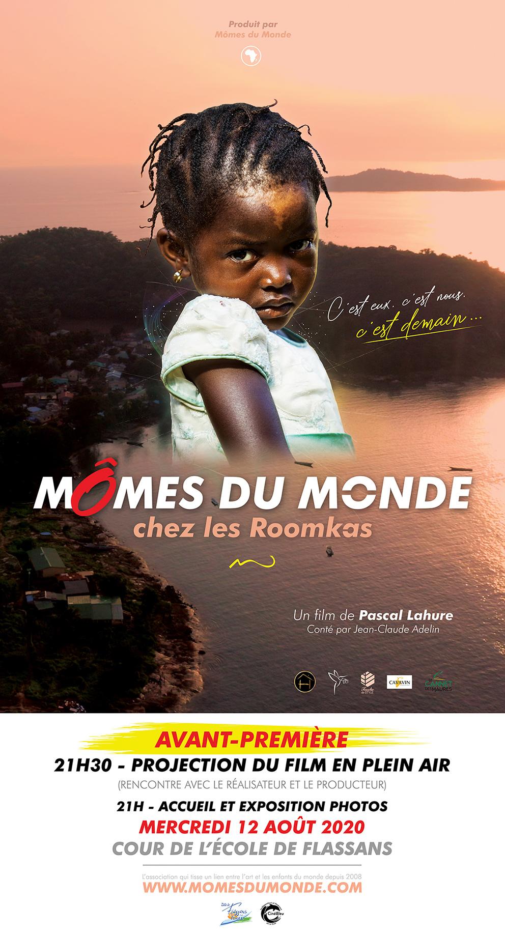 enfant afrique affiche rose